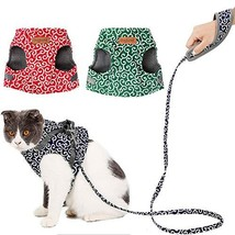 NACOCO Cat TangCao Harness Chest Strap Leash&Rope Set Flower Design Poly... - $14.84
