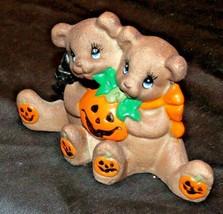 Pumpkin with Bear Animal Decor AA20-2209 Vintage Collectible