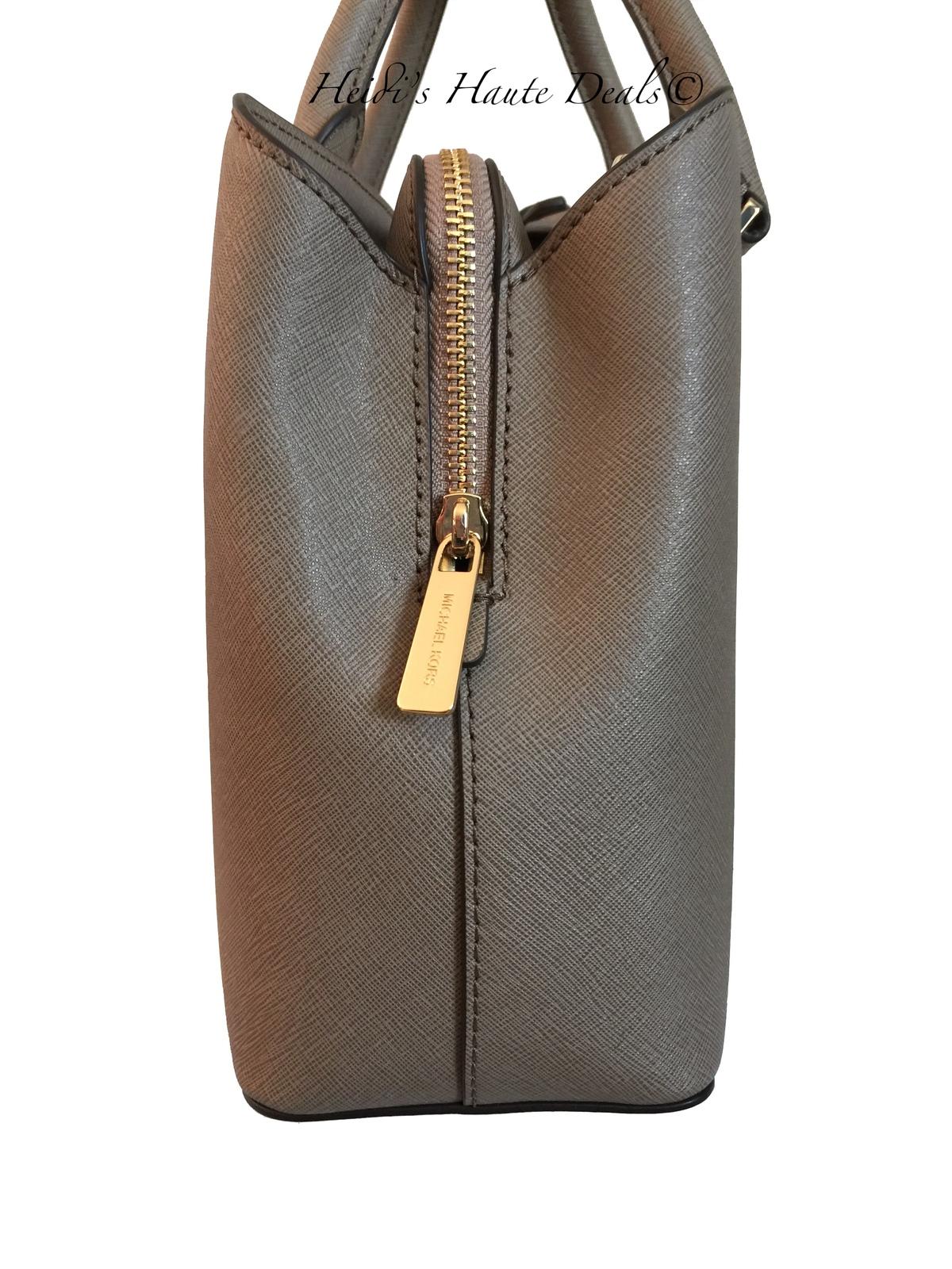 b75381997051 NWT MICHAEL KORS Savannah Medium Satchel Dark Dune Saffiano Leather Bag  Purse