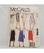 Skirt Patterns Misses Size 6 McCall's 9196 Sewing Waist 23 Precut - $9.99