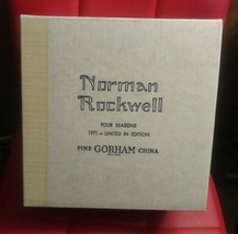 Norman Rockwell Four Seasons Collector Plates 1971 Gorham China Limited Edition  - $88.10