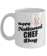 Funny Chef Coffee Mug - Happy National Day - 11 oz Tea Cup For Office Fr... - $14.95