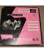 Paganini quartet Beethoven 15 & 16 box sets rca - $32.00