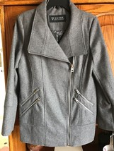 Guess S, M Ladies Medium Gray Wool Blend Melton Coat Size Small or Medium  - $79.00
