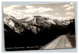 Vintage 1950's RPPC Postcard Corridor of Snow Peaks Berthoud Pass Colorado - $25.71