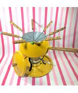 FAB MoD 70's Harvest Gold Fondue Pot • Stand • Burner and 8 Forks - $22.00