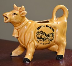 SOUTH DAKOTA MT. RUSHMORE SOUVENIR COW VINTAGE COW MUSTARD YELLOW CREAM ... - $29.99