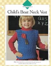 Child's Boat Neck Vest Single Pattern Vanna White Fun Self Attaching Kites - $3.46