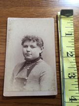 CDV Carte De Viste Chubby Young Girl Curly Hair Studio in VT. 1880's! - $6.00