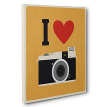 I Heart Camera CANVAS Wall Art Home Decor - $28.22