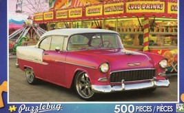 Red Car At The Carnival - Chevrolet - 500 Piece Jigsaw Puzzle - $19.98