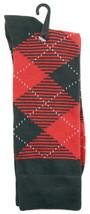 Goldstar Mens Argyle Socks Casual Red Black Diamonds Cotton Blend Crew Sock - $12.95