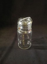 Vintage Clear Glass Jar with Wire Bail and Rubb... - $11.85