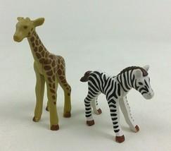 Playmobil 4850 Large Zoo Replacement Animals Zebra Giraffe Piece Part Z5... - $12.42