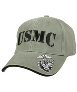 Olive Drab Vintage USMC Embroidered Deluxe Low Profile Adjustable Cap - $17.99