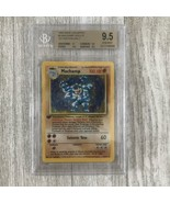 Pokemon Base Set GEM MINT 1st Edition Machamp Holo Rare #8/102 BGS 9.5 P... - $4,949.01
