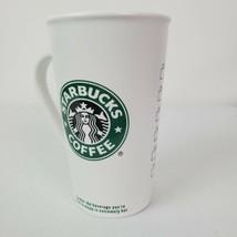Starbucks 2006 Mug Tall White Ceramic Coffee Cup with Mermaid Logo 16oz - $25.72