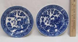 Antique Vintage Blue Willow Saucer  Made In Japan Lot of 2 - $9.89