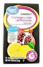 Great Value Sugar Free, Low Calorie ENERGY Pomegranate Lemonade Drink Mi... - $17.59