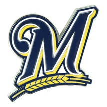 Fanmats MLB Milwaukee Brewers Diecast 3D Color Emblem-Car Truck RV 2-4 Day Del. - $15.83