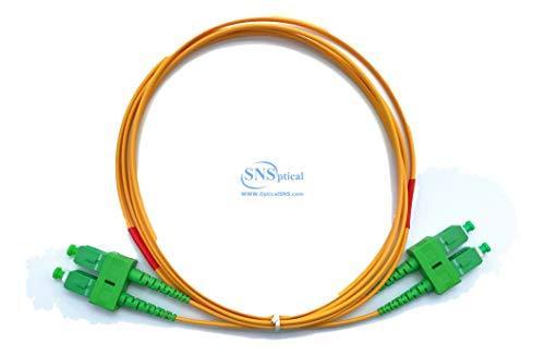 Optical SNS SC/APC to SC/APC Duplex Single Mode OS2 9/125 Patch Cord 70m(210ft)