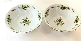 Johann Haviland MOSS ROSE Traditions Fine China 2 Vegetable Sides Bowls Vintage - $43.55