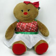Build A Bear Gingerbread Girl Christmas Plush Holiday Dress Stuffed Doll... - $24.99