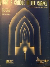 Light A Candle In The Chapel Vintage Sheet Music Harry Pease Ed G Nelson... - $7.70