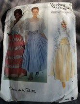 Vtg VOGUE 2806 Oscar design la Renta Very Easy Dirnl Skirt Pattern Size ... - $9.48