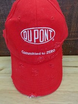 """Dupont """"Committed to Zero"""" Custom Red Zombie Distressed Baseball Hat - $12.87"""