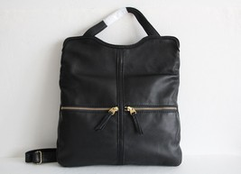 NWT FOSSIL ERIN LEATHER TOTE BLACK - $134.49