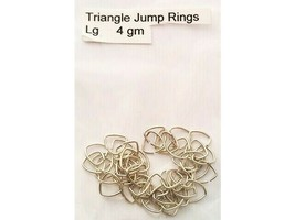 Triangle Jump Rings, Large, 4gm