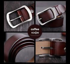 COWATHER cowhide genuine leather belts for men brand Strap male pin buckle vinta image 8