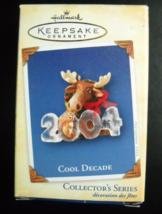 Hallmark Keepsake Christmas Ornament 2004 Cool Decade Moose Fifth in Ser... - $6.99