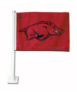 Arkansas Razorback car flag GO HOGS GO! BRAND NEW! - $8.86