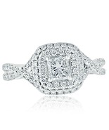 1.03 Ct Princess Cut Diamond Infinity Engagement Ring 14k White Gold - $2,474.01