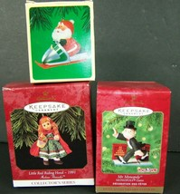 Hallmark Christmas Ornaments Lot of 3 Monopoly Red Riding Hood Snowmobil... - $24.74