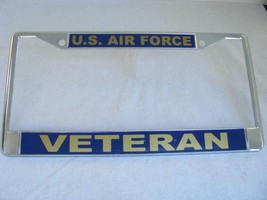 License Plate Frame-U.S. Air Force-VETERAN-Chromed Cast Metal-#811131 - $19.70