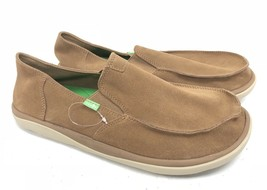 Sanuk Mens Vagabond Tripper Suede Loafer Light Brown Casual Shoe Surfer 1020008 - $69.99