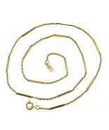 "Vintage 12K GF Gold Filled Bar Chain Engraved 15.5"" Necklace Dainty Eleg... - $58.49"