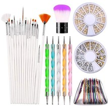ROSALIND 30 Colors Nail Art Striping Tape Lines, 15PCS Nai Art Paiting B... - $20.80