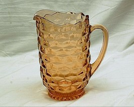 Old Vintage Colony Whitehall Peach Pitcher Stacked Cubed Design Kitchen ... - $36.62