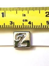 Alphabet Metal Ribbon Slip Bead For Bracelet, Necklace, Crafts image 2
