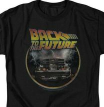 Back to the Future Retro 80's T Shirt Classic Marty McFly DeLorean Car UNI990 image 3
