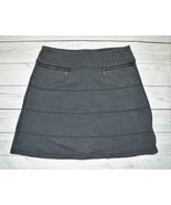Womens Small ATHLETA Stretch Ponte Knit Strata A-Line Skirt Gray with Zippers - $19.99
