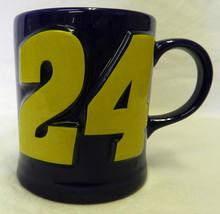 NASCAR Jeff Gordon Mug Raised 24 Dupont Racing Cup Collectible Cobalt Blue - $24.22