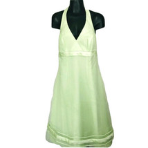 Davids Bridal Womens Size 6 Formal Green Dress Wedding Bridesmaid Halter Lined - $35.99