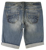 SILVER Jeans Sale Buckle Low Rise Bondi Denim Stretch Jean Bermuda Short... - $18.67
