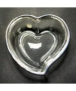 "1 (One) LENOX Lead Crystal Heart Trinket Dish w Silverplated Trim 3.5"" S... - $14.84"