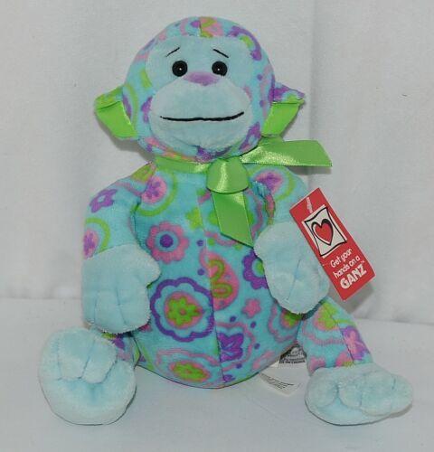 GANZ Brand H11908 Blue Green Pink Purple Color 13 Inch Floral Cutie Monkey